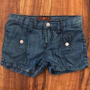 7 for all mankind girls size 6 shorts excellent